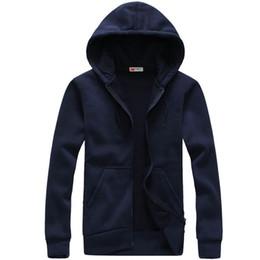Wholesale Hoddie Men - Men Casual Hoodies and Sweatshirts Fashion Solid Sweatshirts Mens Hooded cardigan Hoddie Coat hip hop Sportsuit Tracksuit