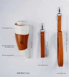 Reiseziege online-Cups Originalität Croissant Kaffee Cup Gürtel Heben Seil verheißungsvollen Ziege Horn Cup portable Edelstahl Isolierung Cup Travel Mugs