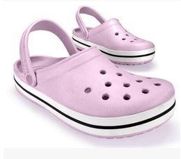 Wholesale Shoe Crocodile Sandals - 2016 free shipping new crocodile leisure fashion men and women sandals garden hole hole shoes, slippers, flat shoes
