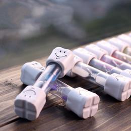 2019 temporizadores de cepillado Reloj de arena de temporización Plástico no rompible Limpiador de juguete de arena Tiempo de cepillado Sonrisa creativa Temporizador de cara Mini relojes de arena pequeño regalo 1 8ke F rebajas temporizadores de cepillado