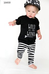 Wholesale Funny Men Briefs - Newborn baby suits Toddler Infant Kids little man funny tee shirt + pants children Boy girl printed casual Clothes Outfits