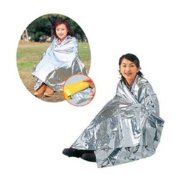 Wholesale Emergency Insulation Blanket - 210*160cm PET Aluminizer Emergency Blanket Outdoor Insulation Blanket Waterproof Emergency Survival Insulation Foil Blankets CCA6703 1000pcs