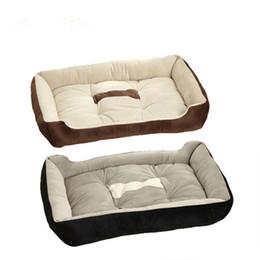 Wholesale Dog Pet Pad - Black coffee Fashion Pets Beds Dogs Soft House Cotton Pet Beds Large Pets Cats