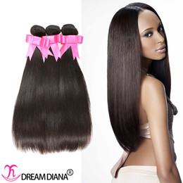 permanentes extensions de cheveux humains Promotion Extraits de cheveux vierges non transformés Extensions de cheveux humains péruviens 3Pcs / Lot de couleur naturelle peuvent être teints peuvent être permé