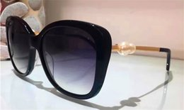 Wholesale Pearl Frames - Luxury ladies fashion brand design CH simple square top quality butterfly frame with small pearl classic summer style big fashion sunglasses