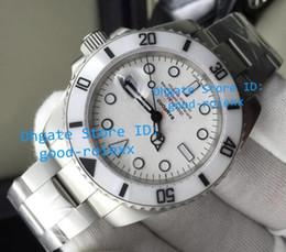 Wholesale Luminous White Watch - Top Model AAA Mens Automatic 2813 Sapphire Watch Men White Ceramic Bezel Dive Watches Sport Full Matte Finish Steel Luminous Wristwatches