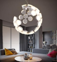 Wholesale Moon Light Chandelier - Lampada Scopas Creative Personalized Modern Dinning Room LED Brief Living Room Pendant Lamp Moon Chandelier Free Shipping