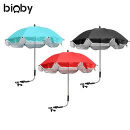 Wholesale Uv Sun Protection Umbrella - Wholesale- Baby Stroller Umbrella Pushchair Baby Pram Parasol Foldable Sun Protection UV Rays Umbrella Shade Stroller Accessories
