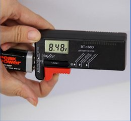 Wholesale Aa D - New BT-168D BT168D LCD display Digital Battery Tester Checker for 1.5V 9V Button Cell Rechargeable AAA AA C D Universal Battery Tester