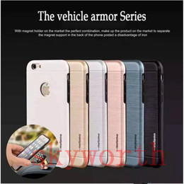 Wholesale Galaxy Cars Case - For Iphone 7 Plus 6 6S 5 SE Samsung Galaxy Note 7 S6 S7 edge Case Motomo TPU PC Brush magnetic car Mount