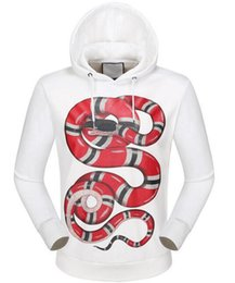 Wholesale Long Jacket Men Buy - Hot Buy Snake Printed Hoodies Men Jumper Hoodie Sweatshirt Long Sleeve Hooded Jacket Fitness Coat Man Sportswear White Black 3XL