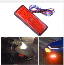 Wholesale led jeep tail lights - 12V Car-Styling Universal LED Reflector Rear Tail Brake Stop Marker Light For Jeep SUV Truck Trailer Motorcycle Electric Cars