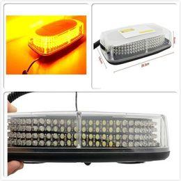 Wholesale Emergency Vehicle Bar Lights - 240 LED Yellow Amber Vehicle Top Roof Emergency Warning Flash Strobe Light Bar Free shipping
