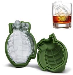 Wholesale Bar Cream - 3D Grenade Shape Ice Cube Mold Maker Bar Party Silicone Trays Mold Cake Mold Ice Cream Trays KKA2640