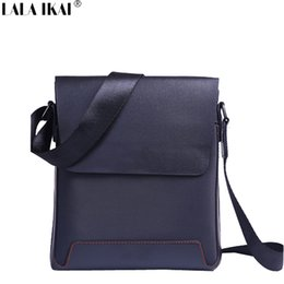 Wholesale Male Shoulder Cross Body Bag - Wholesale-LALA IKAI 2016 Famous Brand Men Messenger Bags Casual Embossed Leather Bag Original Design Shoulder Bags for Male BMB0047-4.9