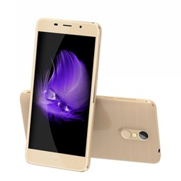 Wholesale Cheap 4g Androids - Cheap Touch ID LEAGOO M5 Plus 4G LTE 2GB 16GB 64-Bit Quad Core MTK6735 Android 6.0 5.5 inch IPS 1280*720 HD GPS OTG 13.0MP Camera Smartphone