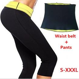 Wholesale Corset Shorts Set - Wholesale- Pants + Waist Belt Hot Shapers Short Pants Set Women's Slimming Sets Body Shaper Waist Corsets Plus Size XXL XXXL