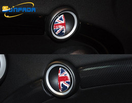 Wholesale mini cooper stickers - Newest Design Interior Door Handle Decoration Car Styling Car Stickers For BMW MINI COOPER S R55  R56  R57 Cartoon National Flag