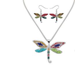 925 collane d'argento della farfalla insiemi online-Smalto Sea Horse Angel Wing Collana Butterfly Starfish Orecchini Set Argento polsino dell'orecchio Maxi gioielli smalto regalo delle donne