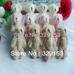 Wholesale Red Stuffed Bear - Wholesale-H-6cm lovely Mini Stuffed Jointed Bear Gift Flower Packing Teddy Bear Long wool bears 100pcs lot