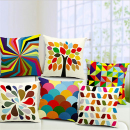 Wholesale Chevron Cushions - Wholesale- Pillow Case 2015 New Throw Pillow Covers, Multi Color Chevron Back Cushion So fa Cus hion Combination Size 18 Inches