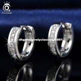 Wholesale Nickel Free Stud - ORSA JEWELS 2017 New Arrival Lead & Nickel Free Classic Silver Color Earrings Fashion Ear Jewelry for Women Wholesale OE101