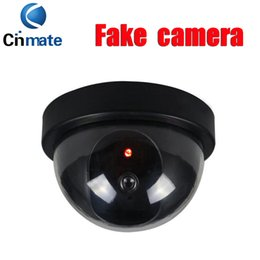 Wholesale Fake Security Cam - Fake Dummy Dome Surveillance CAM Dummy Indoor Security CCTV Camera flashing for Home Camera LED The simulation monitor surveillance free DHL