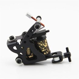 Wholesale Wholesale Tattoo Frames - Wholesale- Free Shipping Cheap 10 Warp Coils Stainless Steel Frame Tattoo Machine Gun Liner Shader for Beginner Supply Black