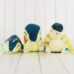 Wholesale Cyndaquil Figure - 8-14cm Anime Poke Cute Cyndaquil Plush Toy Soft Stuffed Doll Toy for kids gift toy free shipping retail