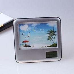 Canada Cadre photo couleur avec calendrier stylo électronique pliant stylo logement cadeaux de bureau cheap house electronics Offre