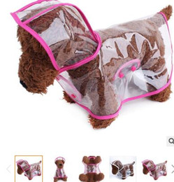Wholesale Raincoat For Puppies - Waterproof Pet Dog Clothes Clear Transparent Dog Raincoat Puppy Costume For Small and Medium Dog