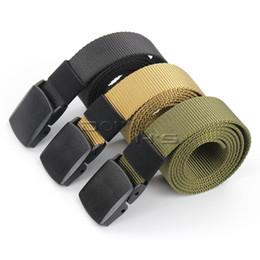 Wholesale Mens Military Canvas Belts - Automatic Buckle Nylon Belt Male Army Tactical Belt Mens Military Waist Canvas Belts Cummerbunds High Quality Strap