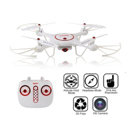 Wholesale Helicopter Landing - Syma X5UC Drone with HD 2.0MP Camera 4CH 2.4G 6-Axis Gyro RC Quadcopter Helicopter with Newest One Key Take-off Landing Headless Function
