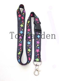 Wholesale Phone Charms Star - 20 pcs With Star pattern related Neck Strap Charms Mobile phone camera Lanyard ID Mobile Phone Key chain