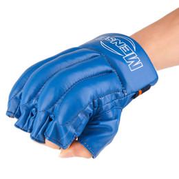 Wholesale Punching Bag Gloves - Mitts Half-finger Fitness Boxing Gloves Punch Bag Training Equipment Hot selling