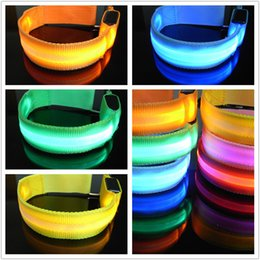 Wholesale Flashing Led Armbands - Perfect Sports Festival Parties Flashing Led Light Glow Armband Belt Multi Color