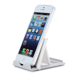 Wholesale Tablet Pc Stand Portable Foldable - Wholesale- Mini Universal Portable Foldable Holder Stand Foldstand 6 6S Plus Air1 2 3 Pro Smartphone Tablet PC 2017 Plastic Charger