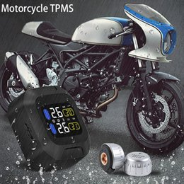 Wholesale Motorcycle Sensor - CAREUD Car M3 Motorcycle TPMS Tire Pressure Monitoring System 2 External Sensor Wireless LCD Display Moto Auto Tyre Alarm Systems