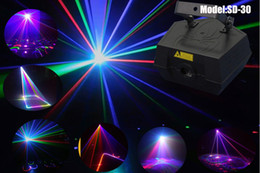 Wholesale Laser Ilda - 1W RGB 3D effect laser lights with ILDA control mode plus 2 pcs blue beam laser lights and plus 0.5W blue diodes