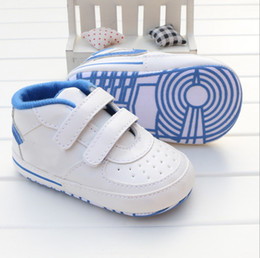 Wholesale White Leather Toddler Shoes - Infant Toddler Stripe Flower Crib Shoes Soft Sole Kid Girls Baby Shoes Prewalker