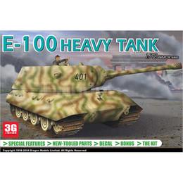 Wholesale E 72 - Wholesale- Dragon scale model kits model 7256 1 72 Germany E-100 heavy tank scale tank kits