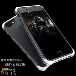 Wholesale Iphone Aluminum Border Case - Metal Aluminum Border Frosted PC Back Cover Case For Apple iPhone 6Plus 6S Plus Mobile Phone Cover