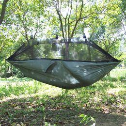 Wholesale Ultralight Hammock Camping - Wholesale- Taffeta wrinkling Ultralight camping outdoor leisure hammock nets single anti-mosquito breathable comfort summer mesh hammock