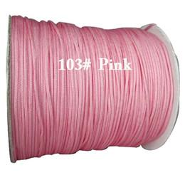 Wholesale Diy Braided Bracelet Pink - 1.5mm Pink Rattail Braided Nylon Cord+DIY Jewelry Accessories Macrame Rope Shamballa Bracelet Beading Cords String 200m Roll