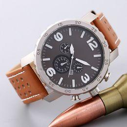 Wholesale Butterflies Clock - 2017 New Big Dial Luxury Design Men Watch Fashion Leather Strap Quartz Watches Montre Clock Relogio Relojes De Marca Sports Wristwatch
