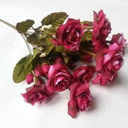 Rose Bouquet Arrangements Bouquet Einzelne Rose Party Seidenblumen Handwerk Dekoration Blumen Dekoration Für Hochzeit Rote Blumenstrauß von Fabrikanten