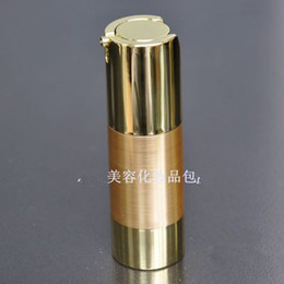Wholesale Cosmetic Airless Pump Gold - Wholesale- Free shipping 30ml UV gold airless vacuum pump lotion bottle with gold pump gold bottom base for Cosmetic bottles