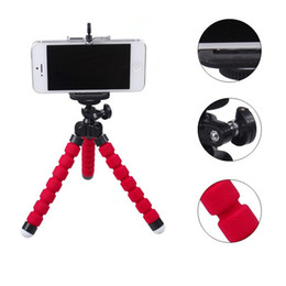 Wholesale Camera Support Brackets - Car Phone Mount Holder Flexible Octopus Mini Tripod Bracket Selfie Support Stand Monopod Adapter Accessories For Mobile Phone Digital Camera