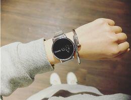 Wholesale New Pair Couple Watch - Modern Classic Men Women Steel Mesh Wrist Watch Couple Lover Pair Watches Valentine Birthday Gift Auto Date Quartz Hour Clock Reloj
