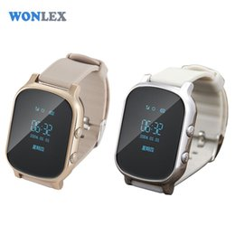 Wholesale Monitor Elderly - Wholesale- Wonlex Kids Elderly Adult GPS Tracker Smart Watch SOS Safety Call Tracker Anti-Lost Monitor for iOS Android